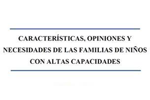 Características y necesidades de los nios superdotados